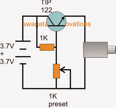 Regulated power bank circuit using TIP122 emitter follower