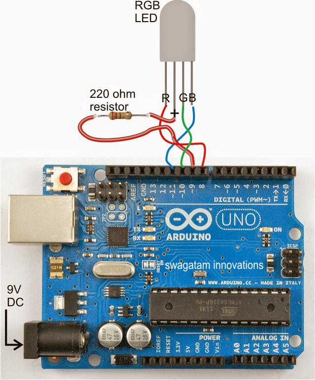 Arduino random rgb light generator circuit electronic