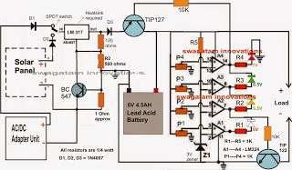 Universal Battery Charger Circuit with 4 LED Indicator
