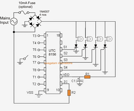 Led Christmas Lights Circuit Diagram Circuit Diagram 8 Mode
