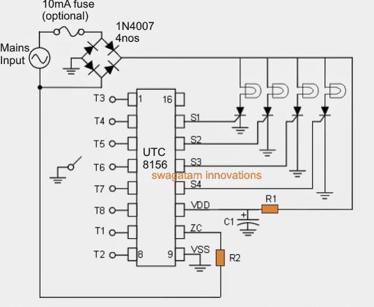 8 function christmas light circuit