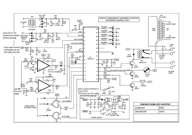 sinewave ups using pic16f72