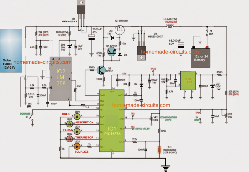 Circuit Diagram As Well As Solar Charge Controller Circuit Diagram on