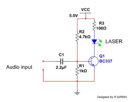 Laser Communicator Transmitter Circuit