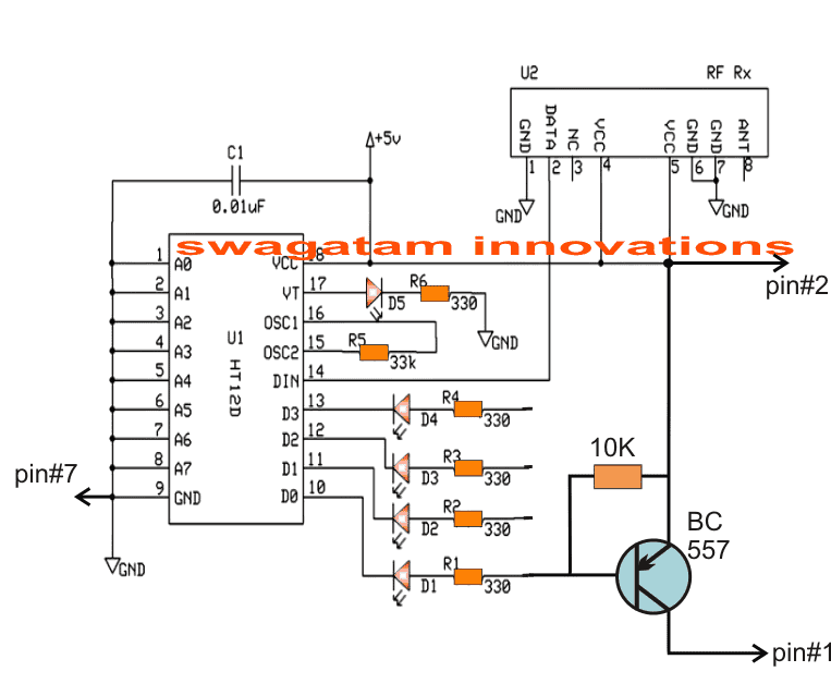 Transmitter Circuit to Trigger a Camera Remotely