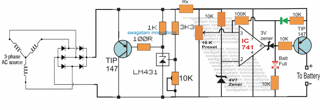 treadmill battery charger circuit