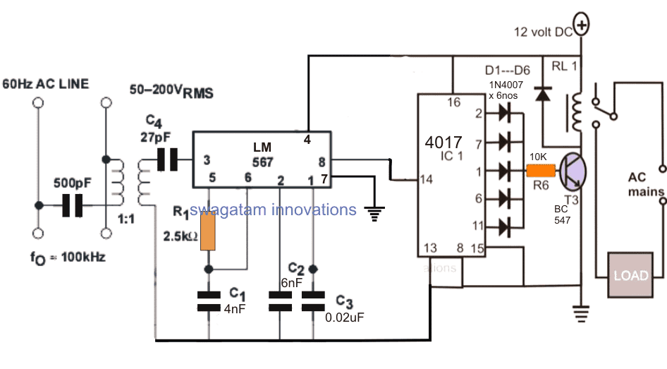 Power Line Communication Transmitter Circuit