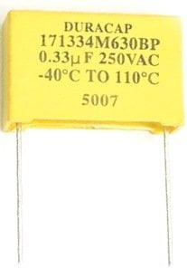 Metallized Polyester Film Capacitor 0.33uF 250V