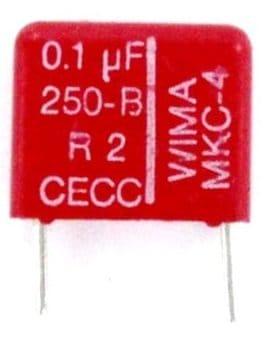 Polycarbonate capacitor 0.1uF 250V