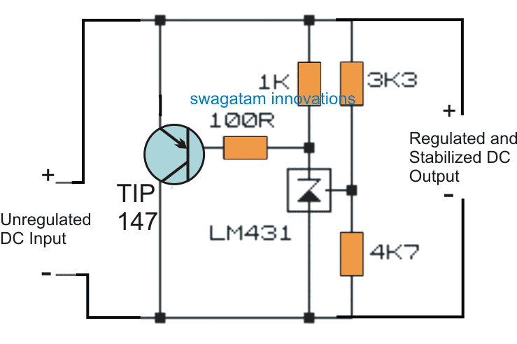 Transistor Zener Diode Circuit for Handling High Current