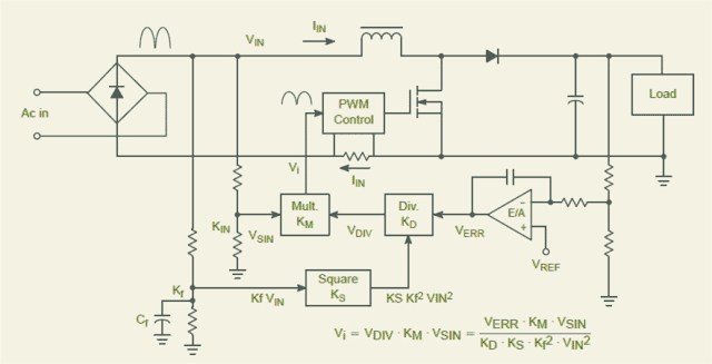 Vrms2 Control power factor correction PFC
