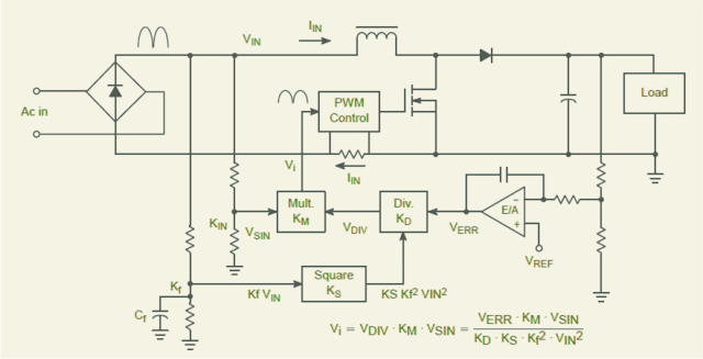 Vrms2 Control power factor correction PFC