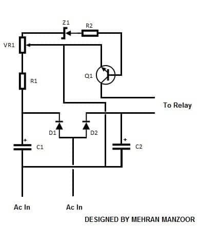 automatic voltage regulator circuit diagram pdf