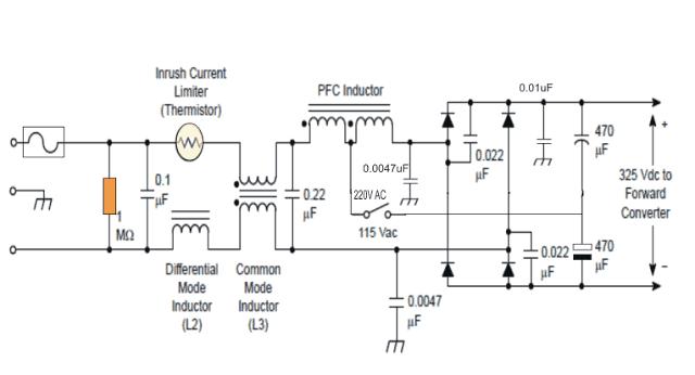 Passive PFC power factor correction