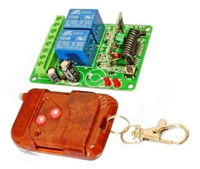2 channel RF remote control modules Rx, Tx
