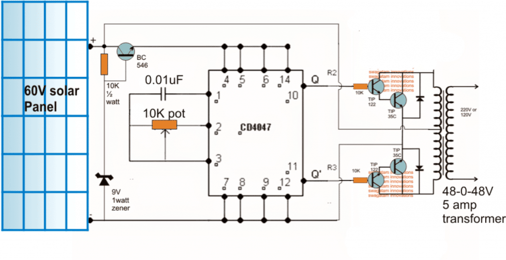 How To Design A Solar Inverter Circuit Homemade Circuit Projects