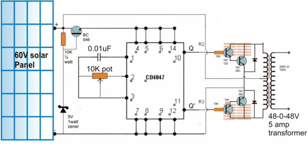Solar Inverter Circuit Diagram Diy Wiring Diagrams
