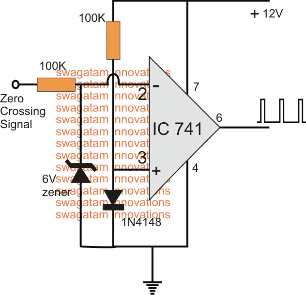 Zero Crossing Detector Circuit using opamp