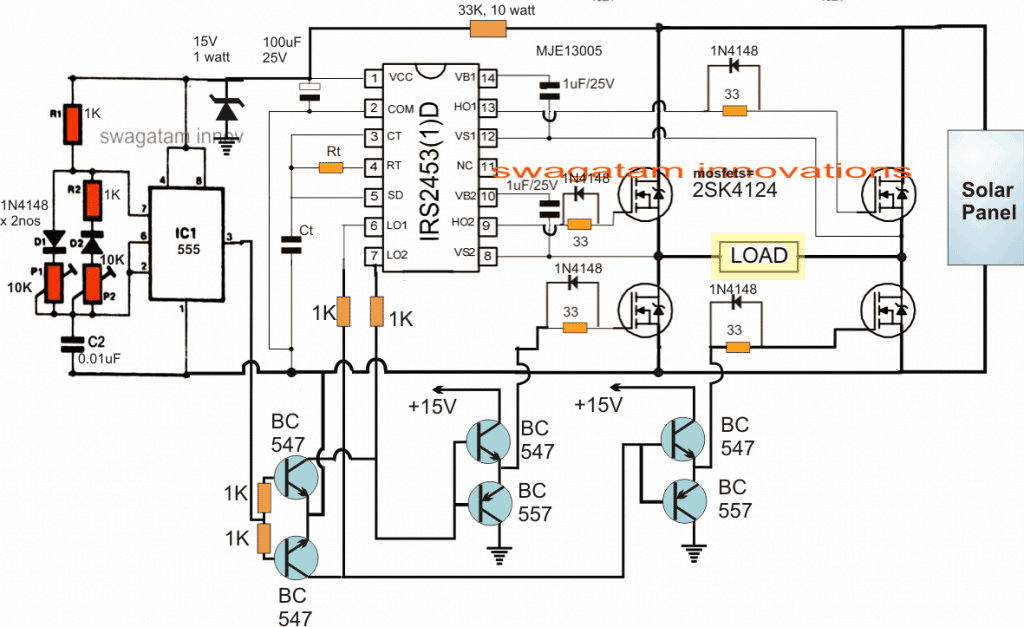 Sine wave Solar Inverter Circuit