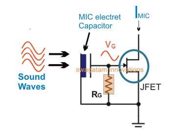electret microphone internal circuit