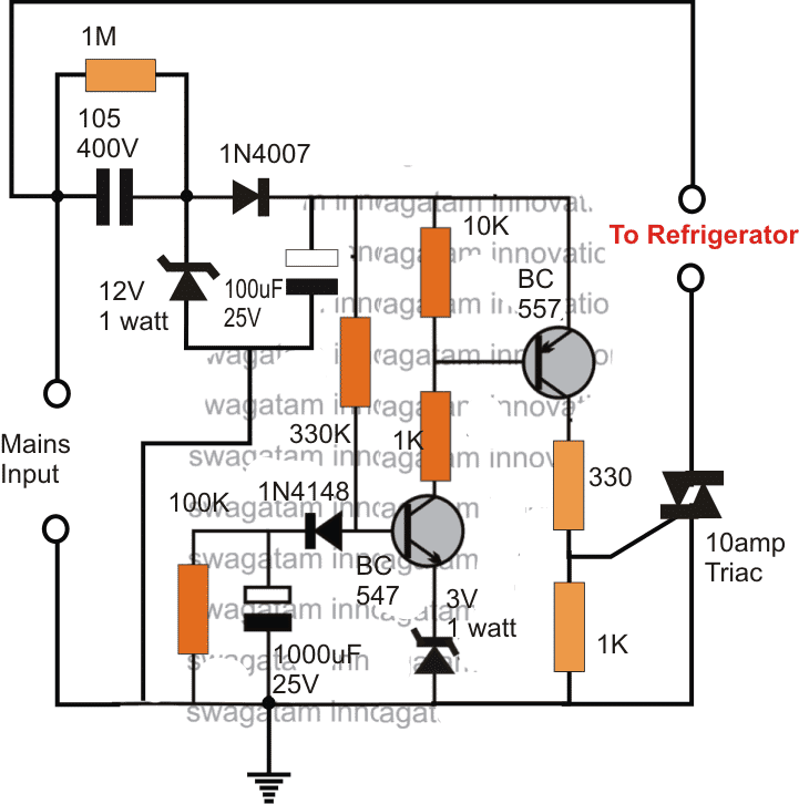 fridge guard circuit diagram