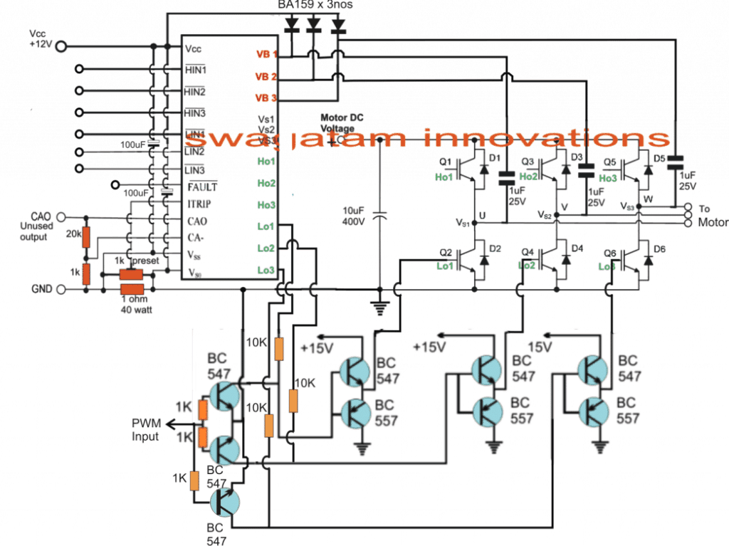 3 phase induction motor control with full bridge circuit