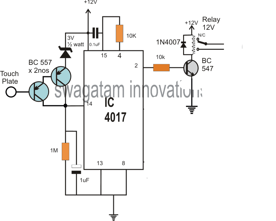 Touch Sensor Switch Circuit