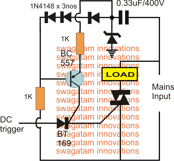 single BJT Zero Crossing Detector Circuit