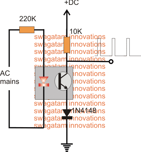 optocoupler based Zero Crossing Detector Circuit