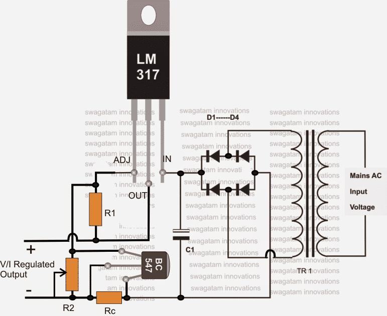 0-60V LM317HV Variable Power Supply Circuit | Homemade