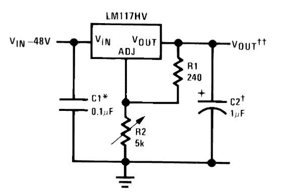 0-60V LM317HV Variable Power Supply Circuit