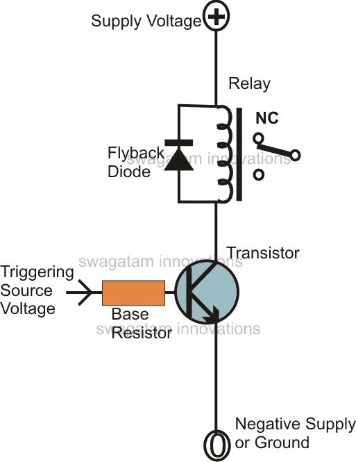 transistor relay driver circuit