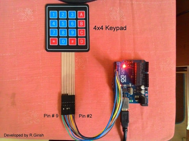 How to Interface 4x4 Keypad with Arduino