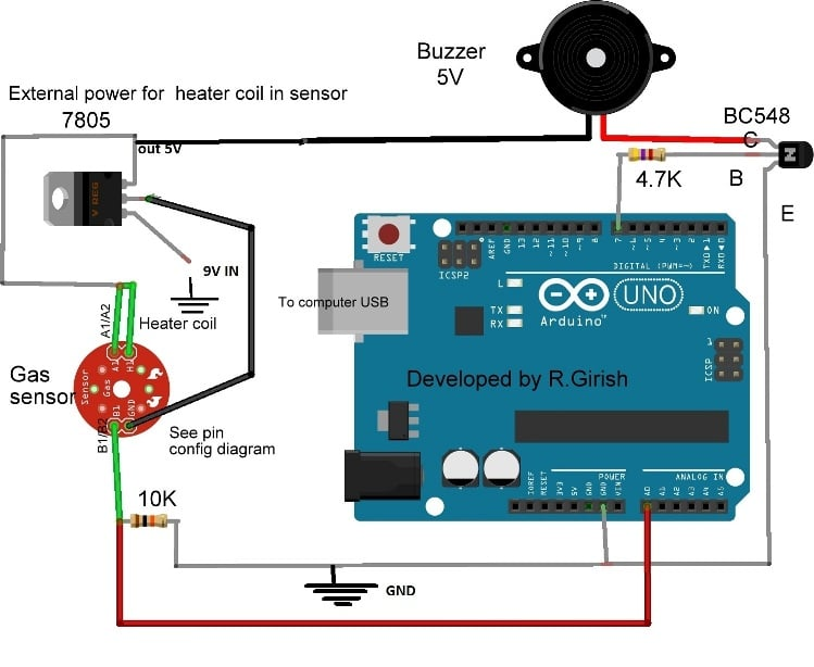 mq 135 air quality sensor circuit working and. Black Bedroom Furniture Sets. Home Design Ideas