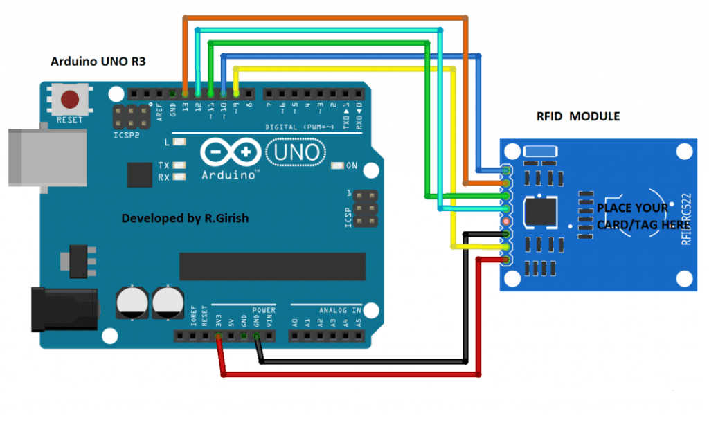 RFID Reader Circuit using Arduino | Homemade Circuit Projects