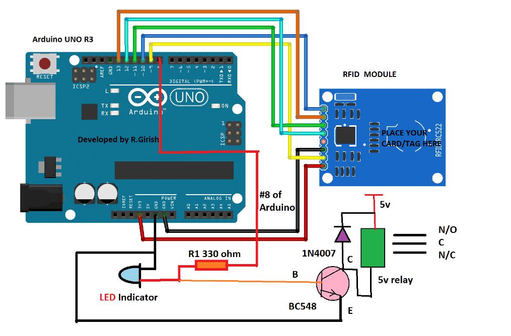 Rfid Security Lock Circuit
