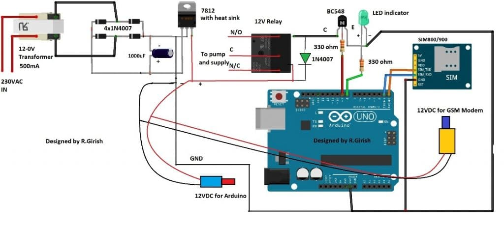 Pump Motor Controller Circuit using Arduino