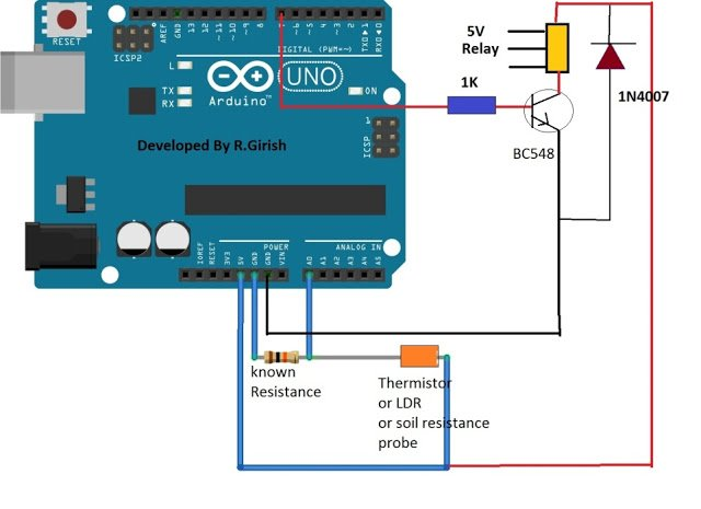Simple Ohmmeter Circuit Diagram Of Separate : Simple arduino digital ohmmeter circuit