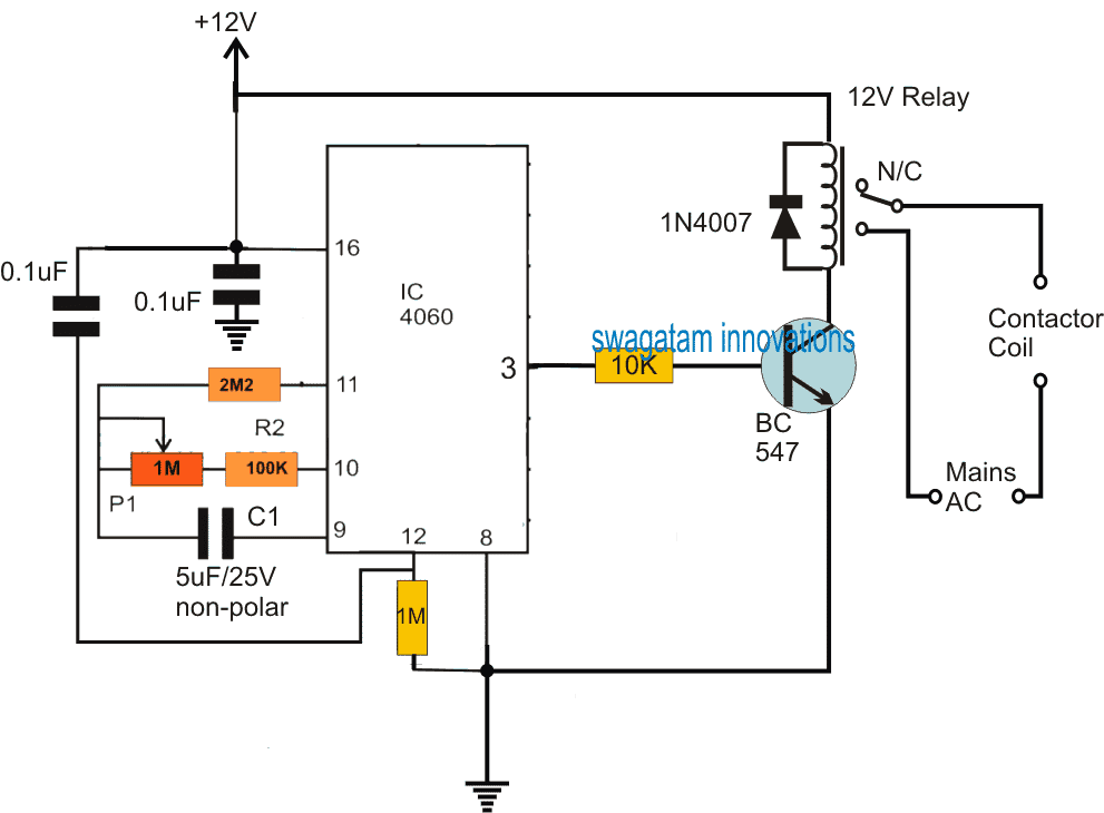 Timer Controlled Submersible Pumpset Circuit