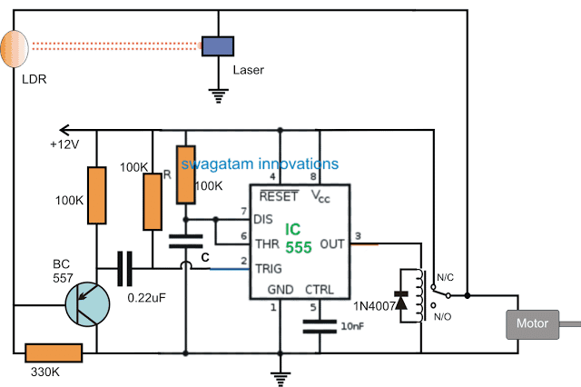Material Storage Level Controller Circuit