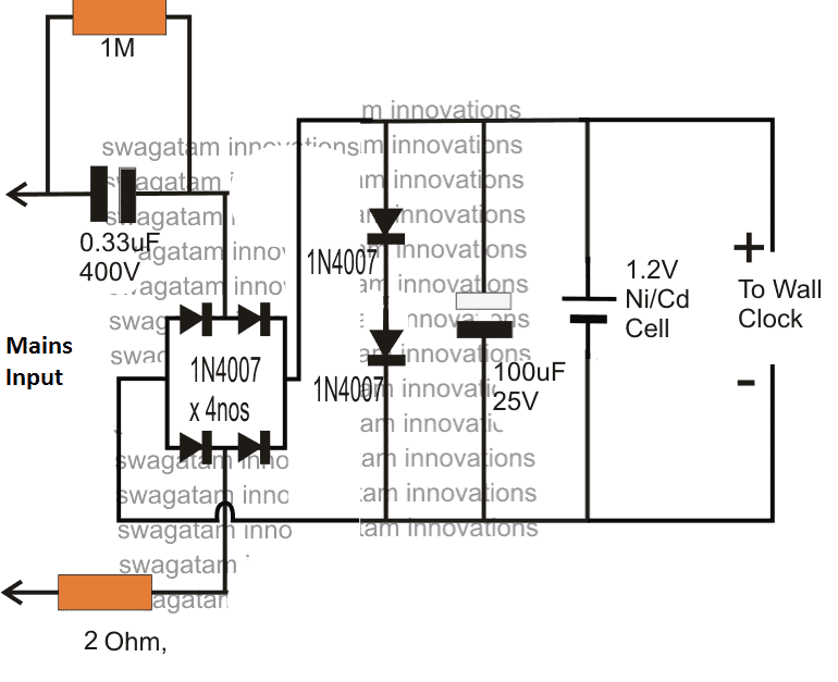 [SCHEMATICS_4PO]  1.5V Power Supply Circuit for Wall Clock | Homemade Circuit Projects | Wiring Diagram For Electric Wall Clock |  | Homemade Circuit Projects
