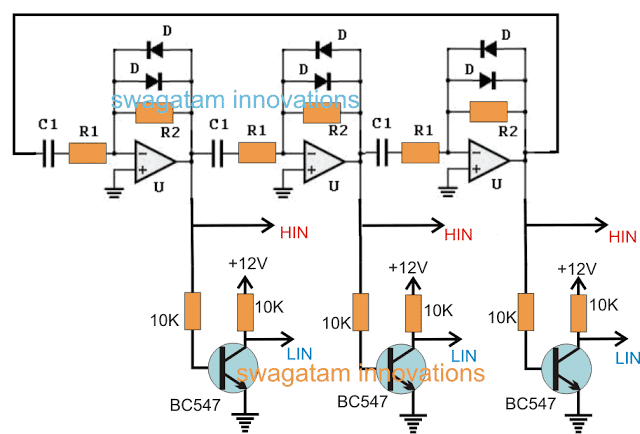 opamps are buffered using transistor inverters