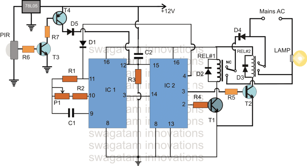 Automatic Food Warmer Lamp Circuit