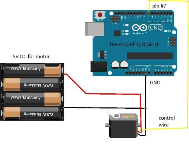 How to Interface Servo motors with Arduino Circuit