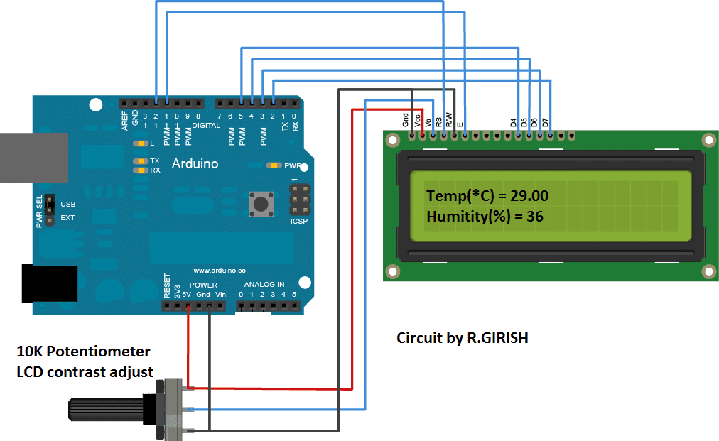 humidity sensor using Aduino