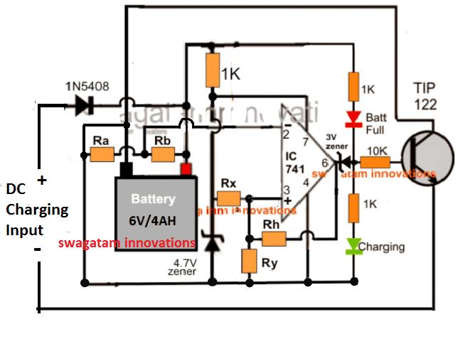 12V, 24V, 48V universal battery circuit