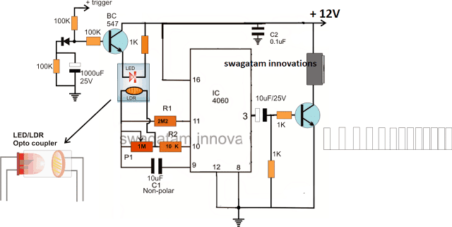 Buzzer Circuit with Incrementing Beep Rate