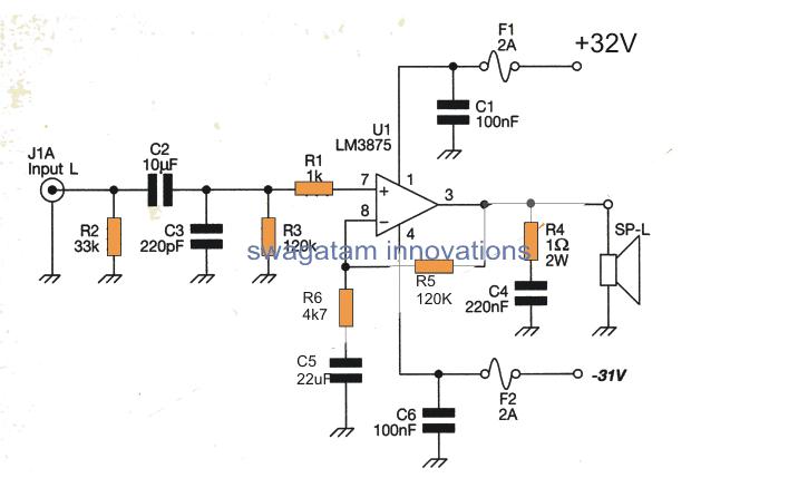 60 Watt Stereo Amplifier using Gainclone Concept