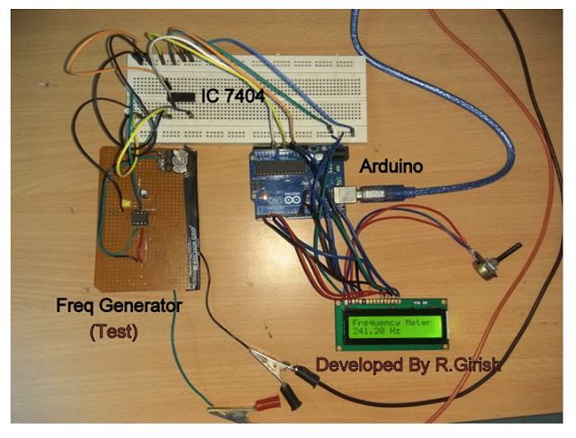 Arduino Frequency Meter Prototype Image