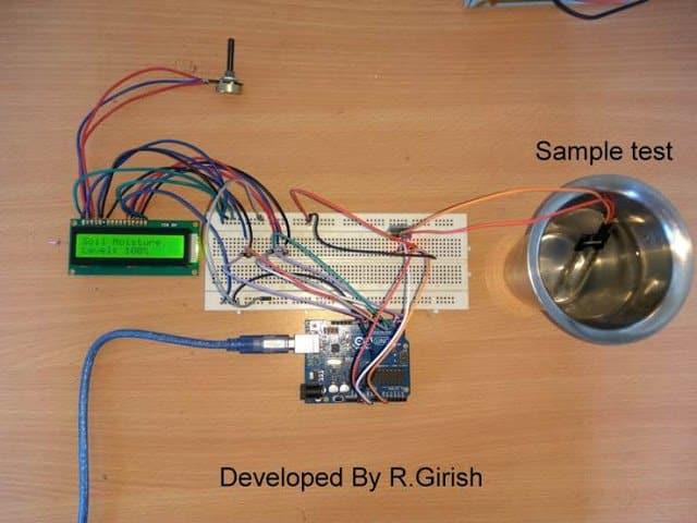 prototype image of the automatic irrigation system using arduino